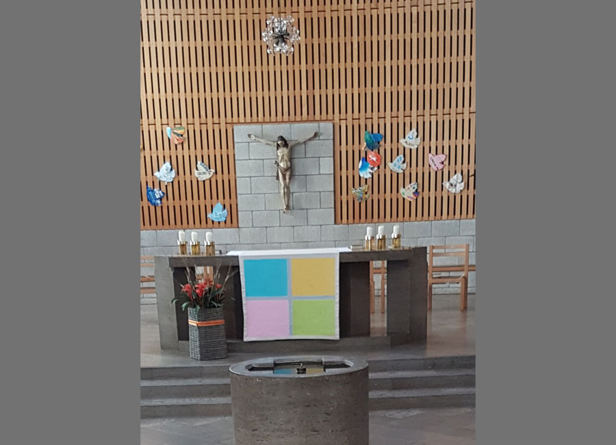 Altartuch Affoltern am Albis 80x80 cm