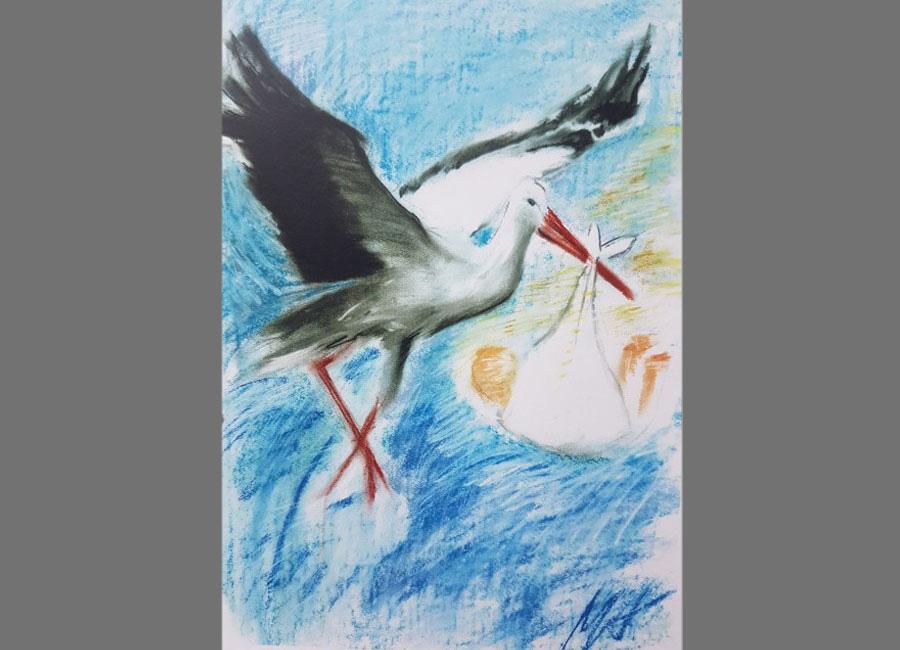 Geburtskarte-Zalan-Pastellkreide-60x42cm