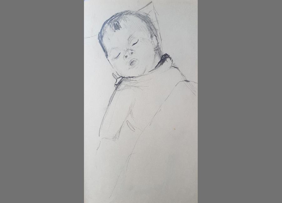 Ibolya,-Bleistift,-21x14cm