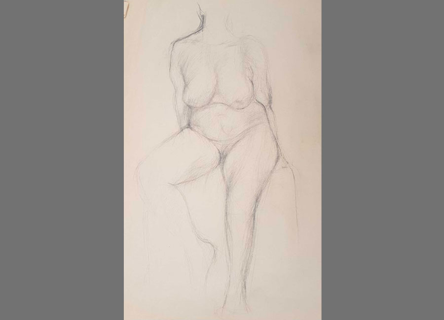 Sitzende-Frau-Kohle-90x63cm