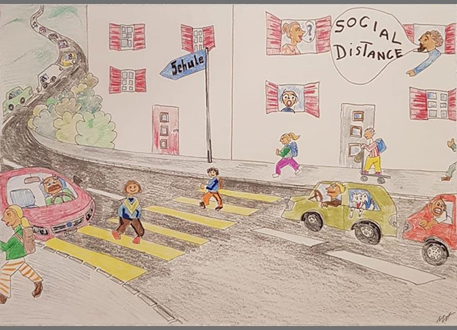 Social Distance / Schuelzitig Auw 2020